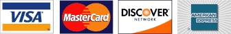 logos for visa, mastercard, discover card and american express